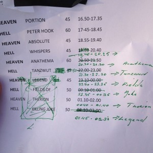 Here's a quick look on how we were shifting lineup all the time at Eurorock . Note that the FOTN were still ok then until McCoy said no while the rest of the band wanted to play.