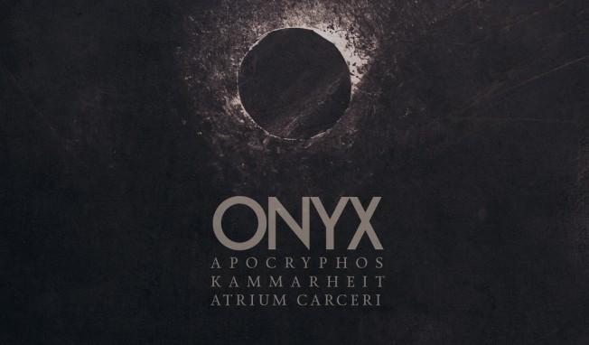 Atrium Carceri teams up with Apocryphos and Kammarheit for the album Onyx