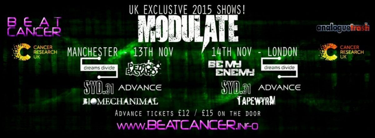 Beat:Cancer Live in the UK - electronic / industrial / noise concerts in aid of cancer research UK