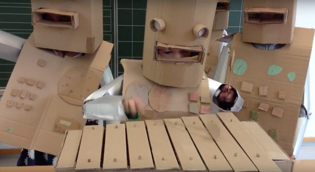 Kraftwerk's'Die Roboter' covered by a bunch of dressed up kids - absolutely adorable!