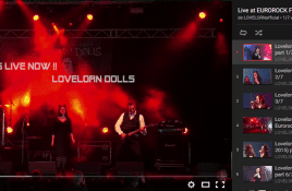 Lovelorn Dolls release complete liveset at Eurorock 2015 on YouTube