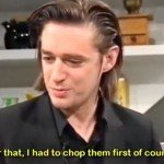 Blixa Bargeld from Neubauten cooking Risotto on German TV? Yes, it's caught on tape!