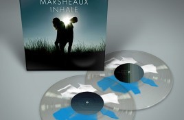 Greek synthpop duo Marsheaux reissue 'Inhale' album on rare shape splatter vinyl - only 199 copies available - order now