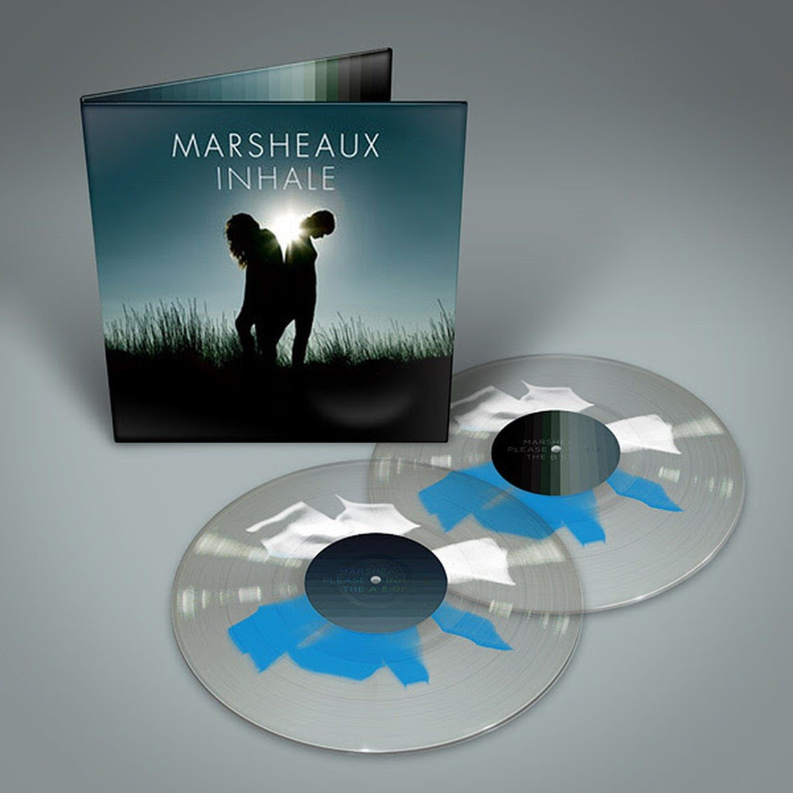 Greek synthpop duo Marsheaux reissue'Inhale' album on rare shape splatter vinyl - only 199 copies available - order now