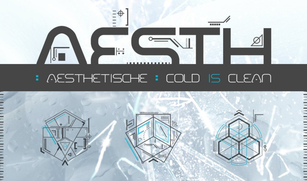 Top industrial dance act Aesthetische strike back with an ultra danceable 5-track EP'Cold Is Clean' featuring Diffuzion frontwoman and Mari Kattman on guest vocals