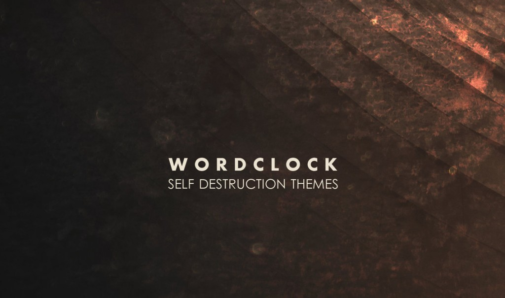 Wordclock sees 2nd album'Self Destruction Themes' released on Cryo Chamber - listen now