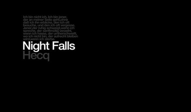 Hecq sees album 'Night Falls' reissued as 2LP vinyl