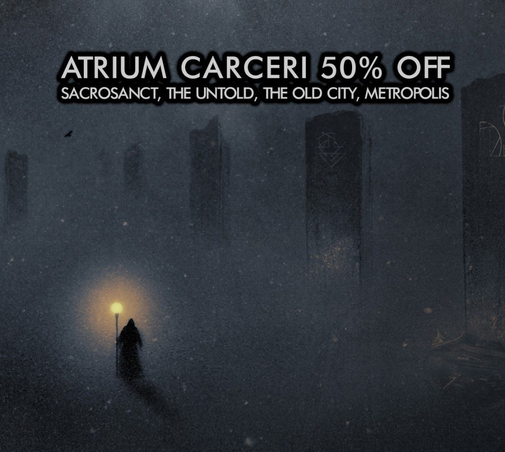 Atrium Carceri Sale continues on Cryo Chamber, 50% off digital downloads