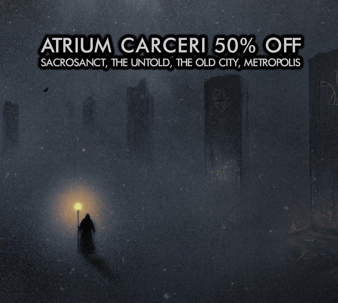 Atrium Carceri Sale continues on Cryo Chamber, 50% off digital downloads
