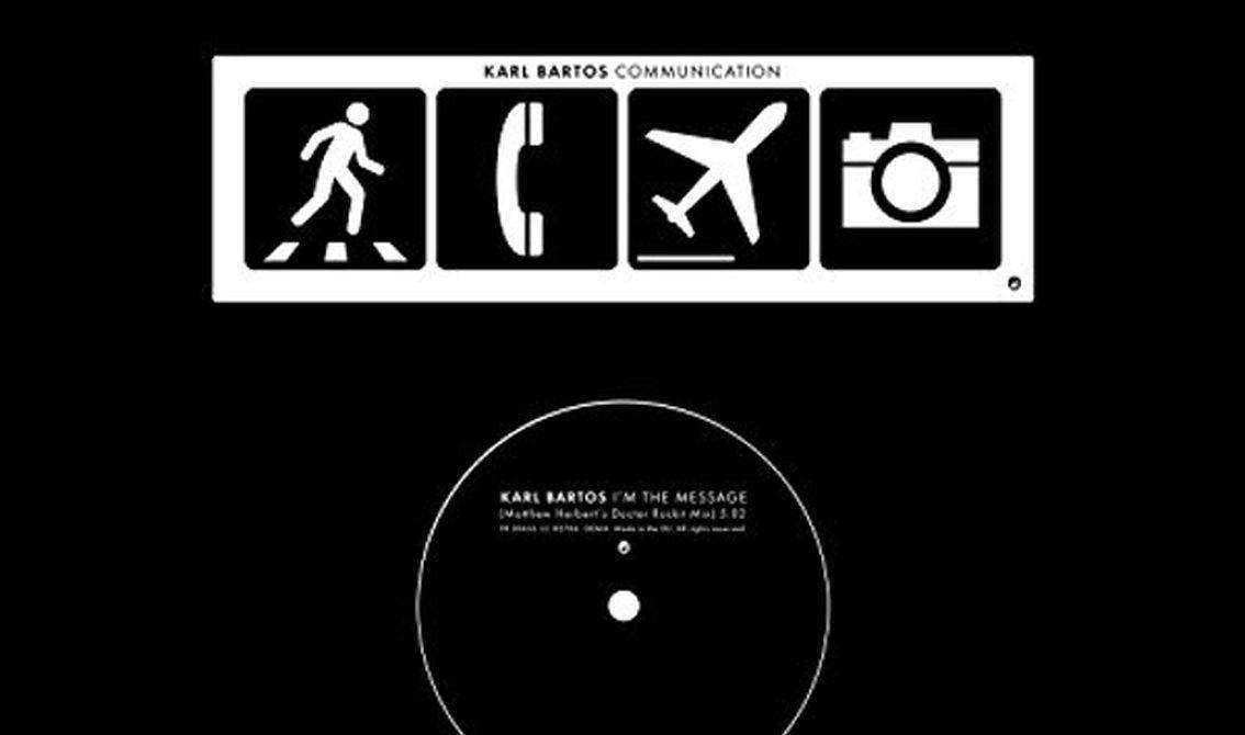 2 new Karl Bartos (ex-Kraftwerk) 7inch vinyls hit the shops: 'I'm the message' + '15 minutes of fame'