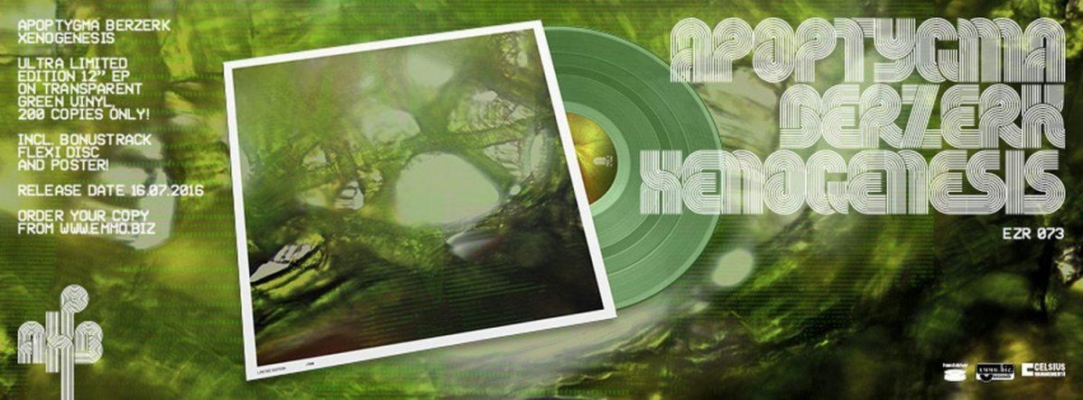 Apoptygma Berzerk sees 3rd experimental electronic instrumental EP released:'Xenogenesis'