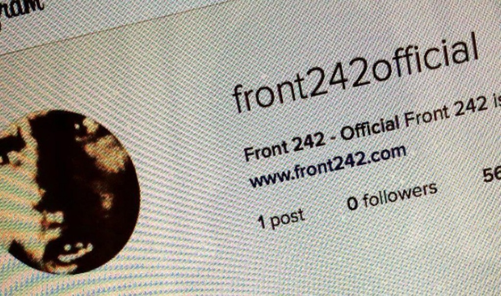 Front 242 lands on Instagram - and we found out about it :)