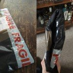 A UK postman delivered a vinyl record through a letterbox... by folding it in half!