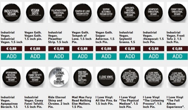 Plenty of industrial music pins available, get yours now!