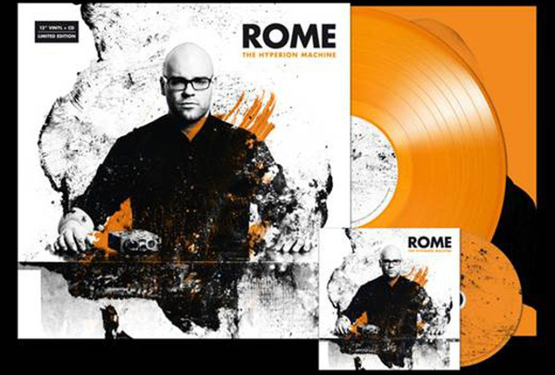 Brand new Rome album'The Hyperion Machine' issued on a sweet orange vinyl (incl. CD)