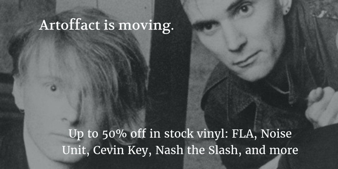 Incredible - and we mean it - vinyl sale at ArtOfFact on Marsheaux, Cevin Key, ... 50% and more off! - here's the link!