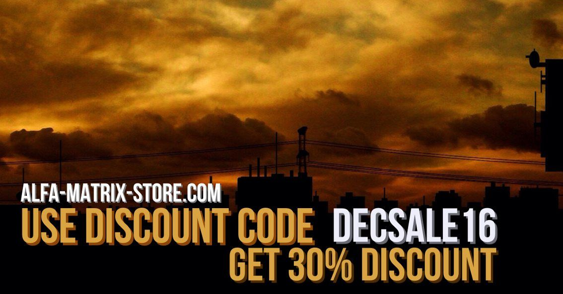 Alfa Matrix launches special discount action - get 30% off with this discount code: DECSALE16
