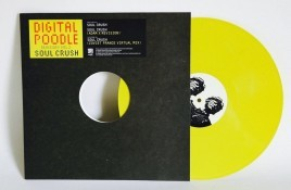 Yellow vinyl release for the EBM cult hit 'Soul Crush' by Digital Poodle