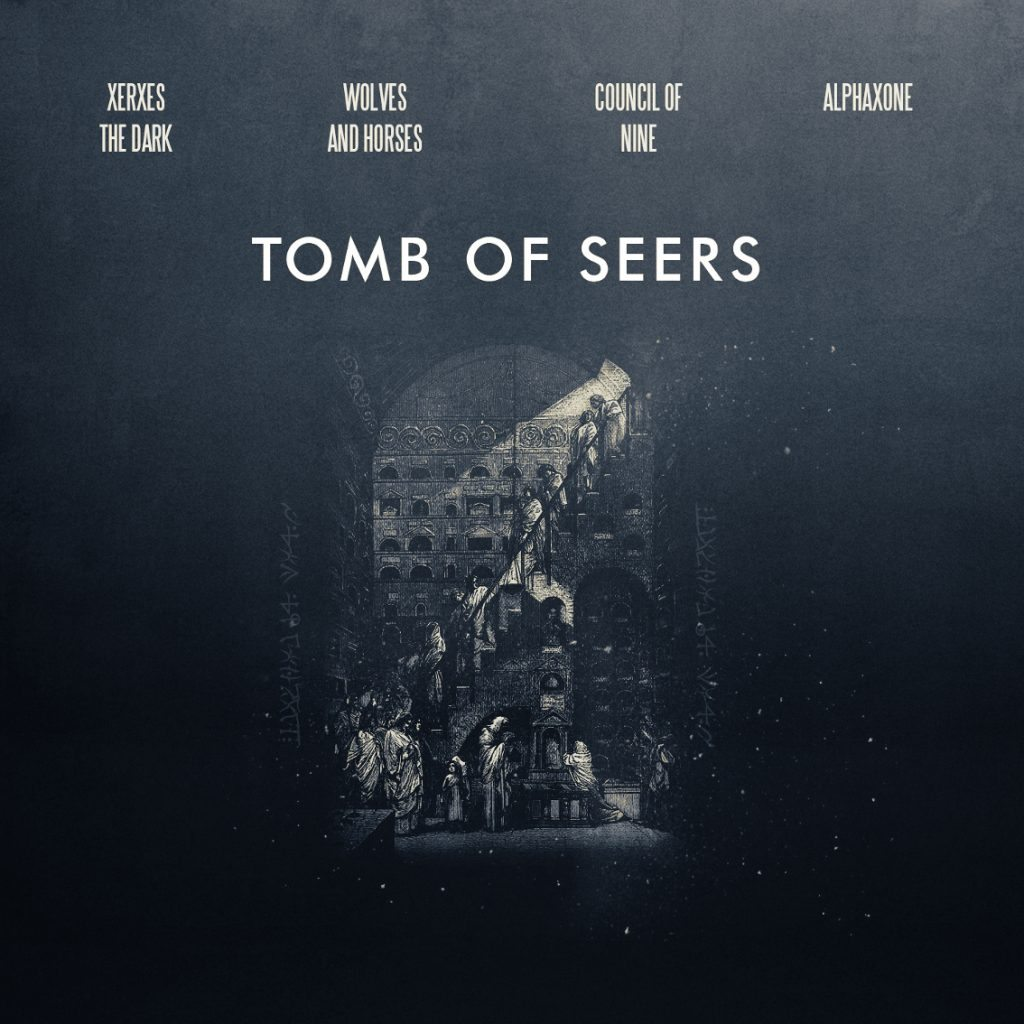 'Tomb of Seers' out on Cryo Chamber, powered by the 4 ambient acts Council of Nine, Alphaxone, Xerxes The Dark and Wolves and Horses - listen to it now!