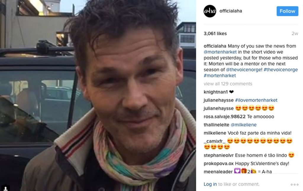 a-ha's frontman Morten Harket will be a mentor on the popular TV show'The Voice'