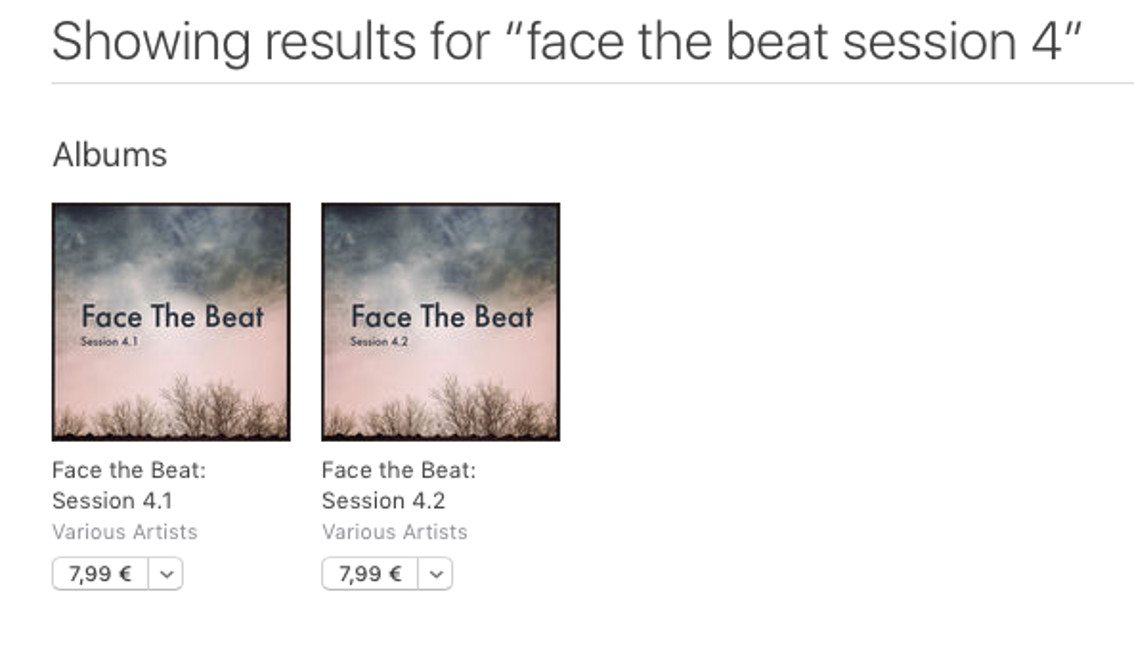 'Face The Beat : session 4' has hit Spotify, iTunes, Amazon etc.
