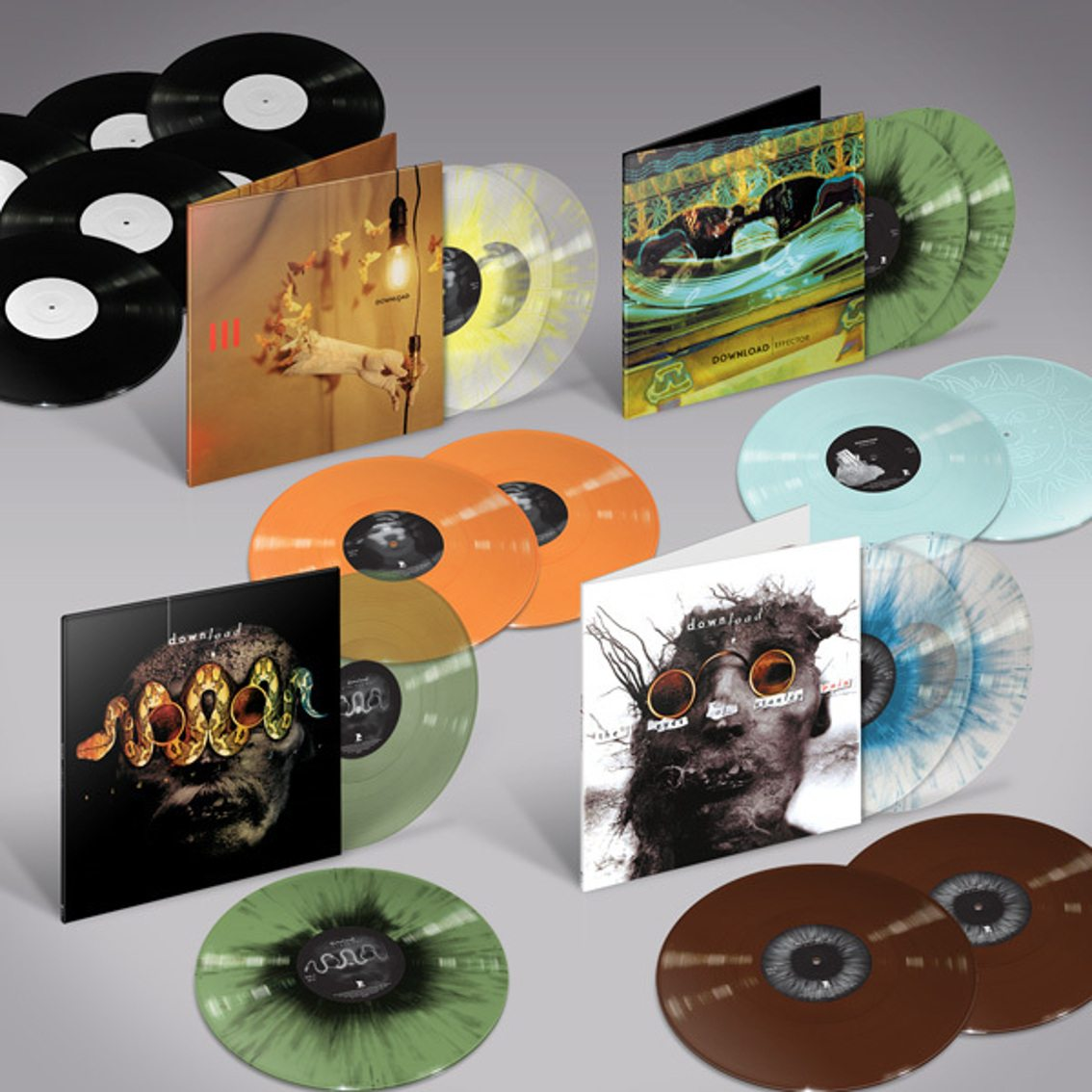 Skinny Puppy fans, attention! Massive reissue campaign for Download (Skinny Puppy's Cevin Key) and Phil Western on ltd ed coloured vinyl - pre-orders available now
