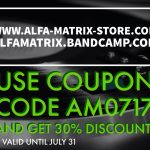 Alfa Matrix launches 30% discount code for their vinyl/CD/DVD webstore and for Bandcamp - valid for a limited time!