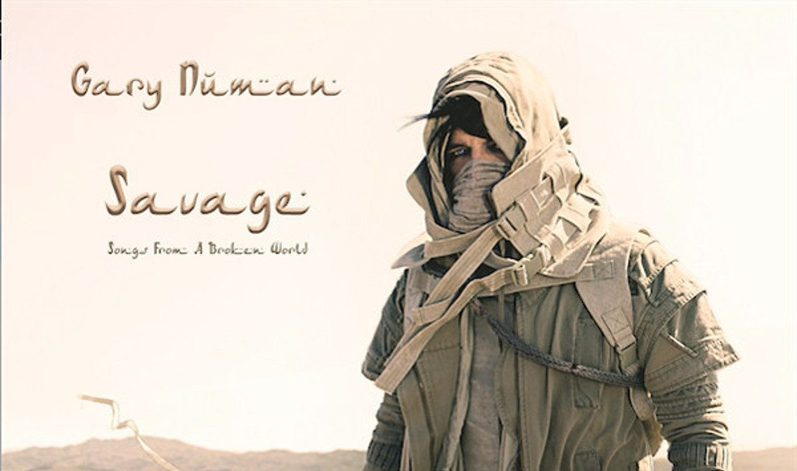 Gary Numan to release new'Savage (Songs from a Broken World)' album on double vinyl (with 2 bonus tracks)