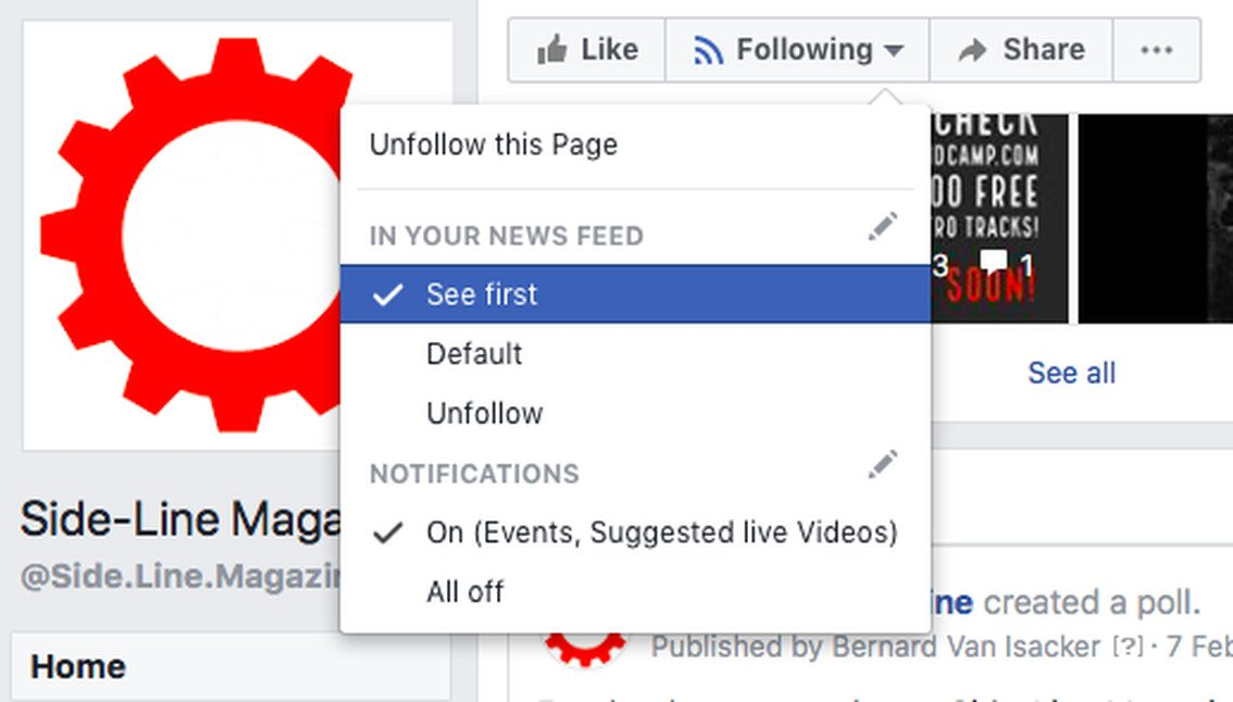 Side-Line readers say'F**k off' to Facebook's newest page reach killing