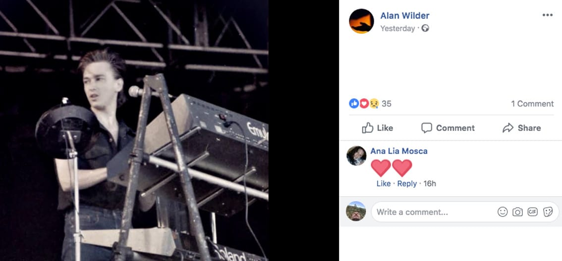 Legendary keyboard used by Alan Wilder up for sale