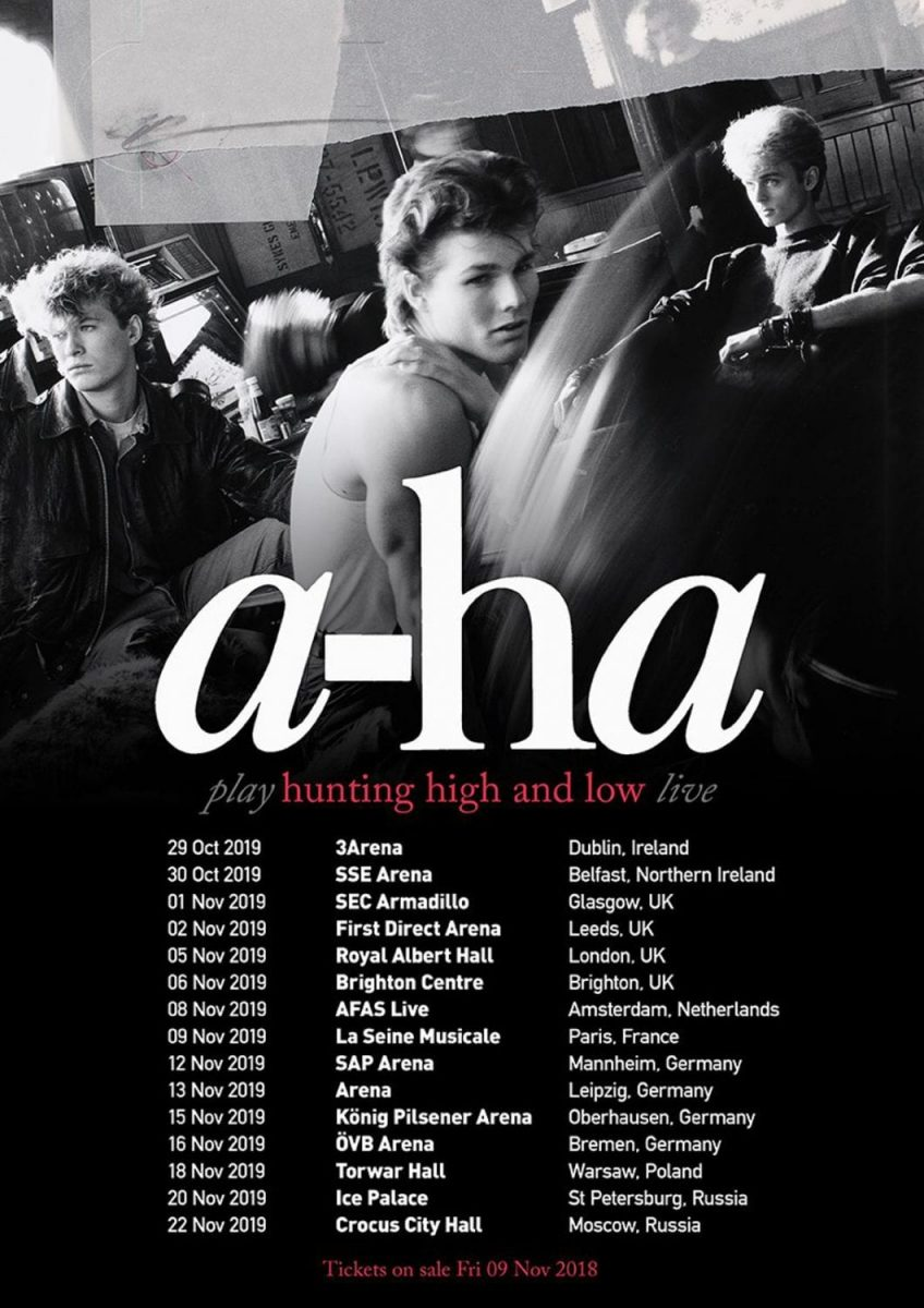 a-ha to perform debut album'Hunting High And Low' in full during 2019 tour