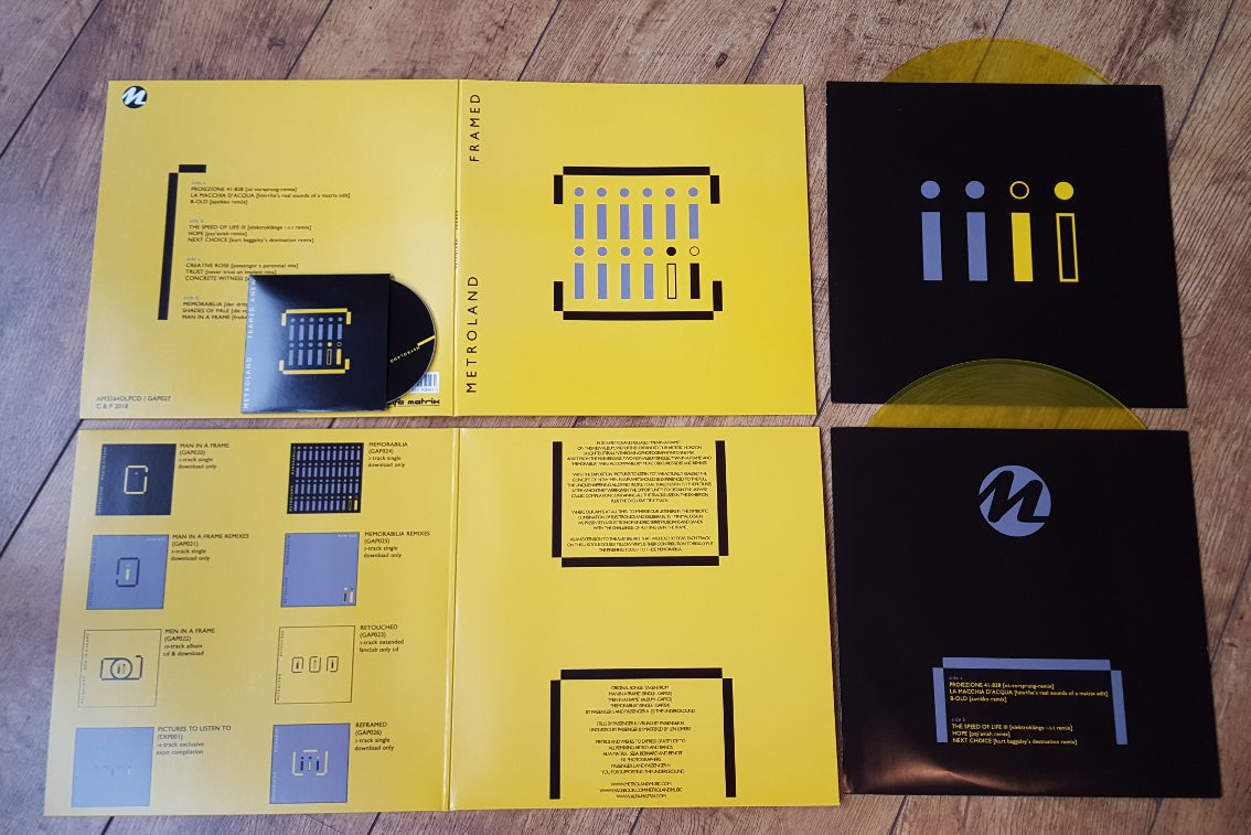 Metroland release double yellow vinyl (+CD):'Framed' - available now via Alfa Matrix