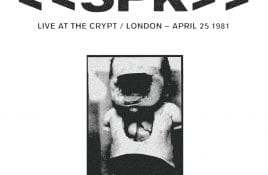 S.P.K. 1981 live recording 'Live at the Crypt' issued on CD