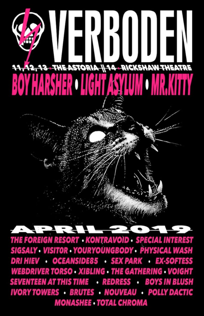 Darkwave music festival Verboden announces lineup for its April 11th-13th edition