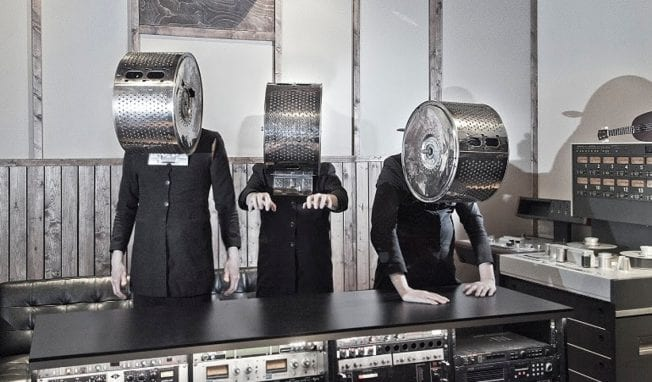 This is a must-see! Cleaning Women share new video for single 'Leap Of Faith', all played on instruments... made out of cleaning appliances. Produced by Einstuerzende Neubauten's Alexander Hacke