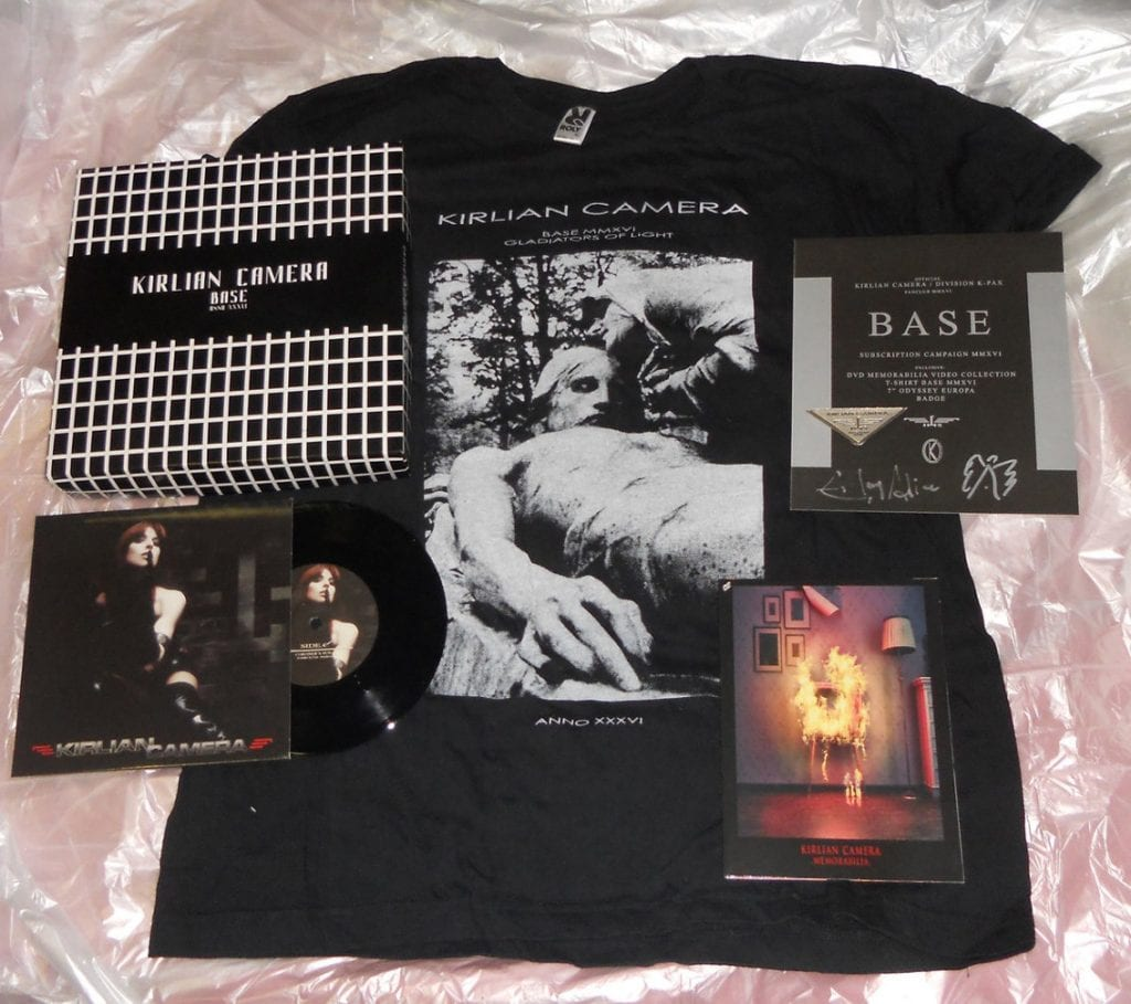 "Kirlian Camera releases'Base Box' boxset feat. 7"", DVD, shirt and more"