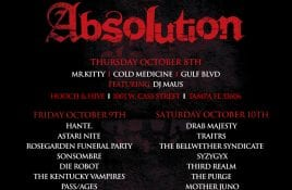 Second annual Absolution Festival announces dates and lineup