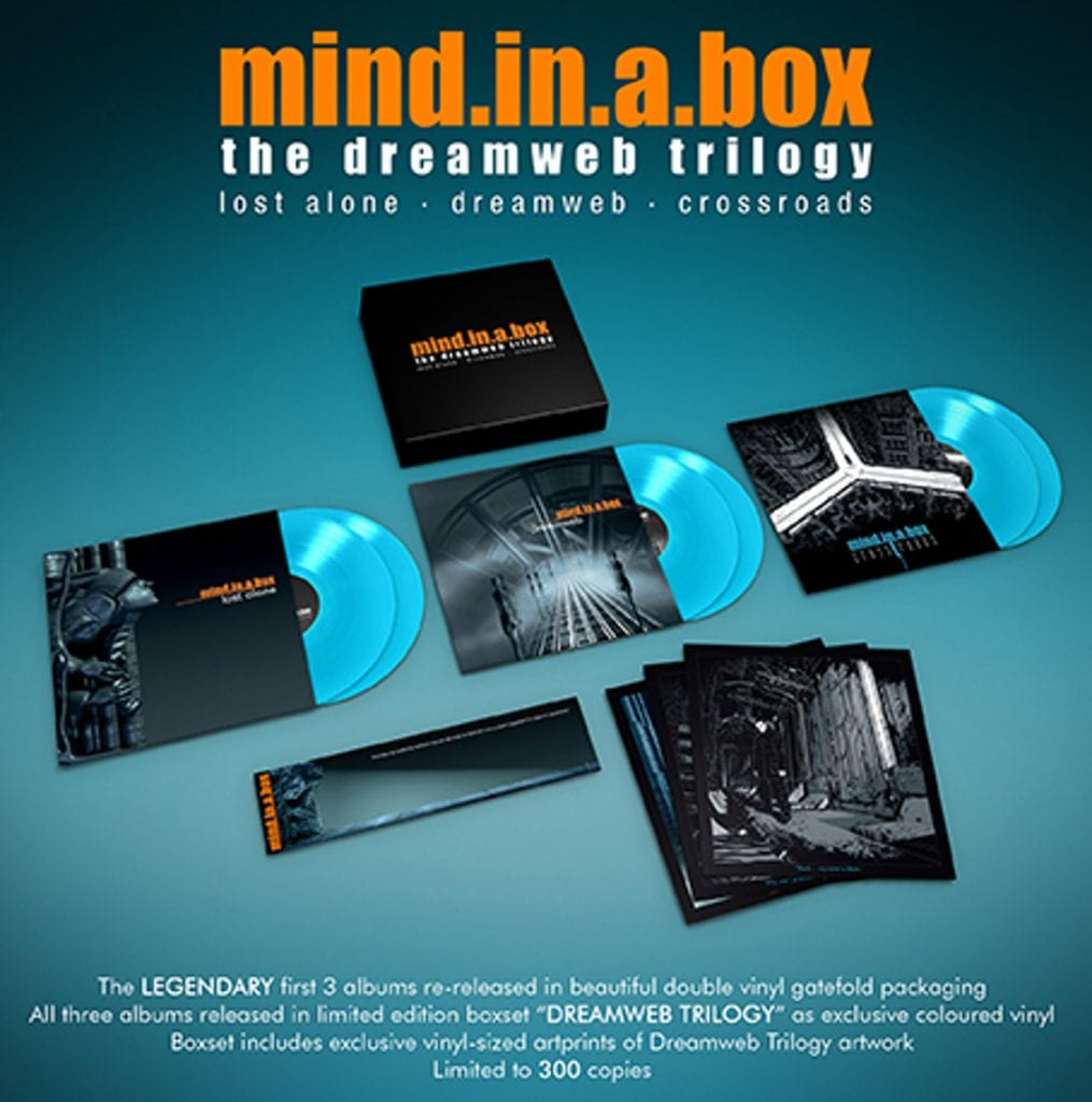 First three mind.in.a.box albums united on'Dreamweb Trilogy' 6LP box