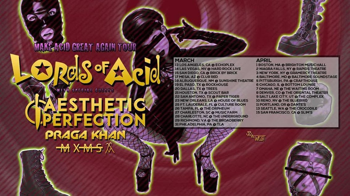 Lords Of Acid launch 'Make Acid Great Again Tour' across the US - tour line up announced