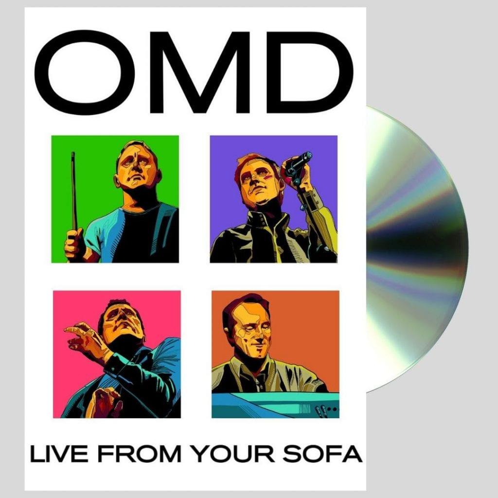 OMD announce live DVD'Live from Sofa' (available with 2 different covers)