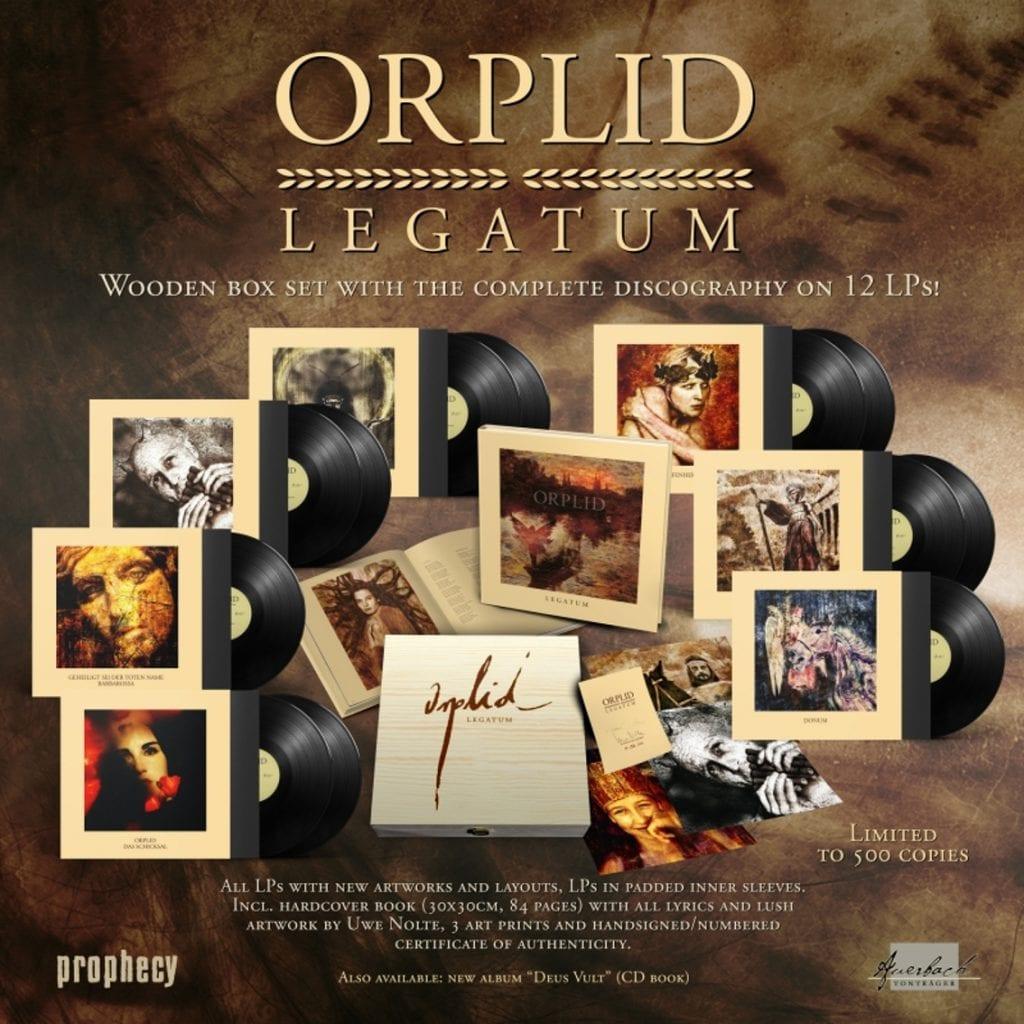 Entire Orplid backcatalogue compiled in'Legatum' 12-LP wooden boxset
