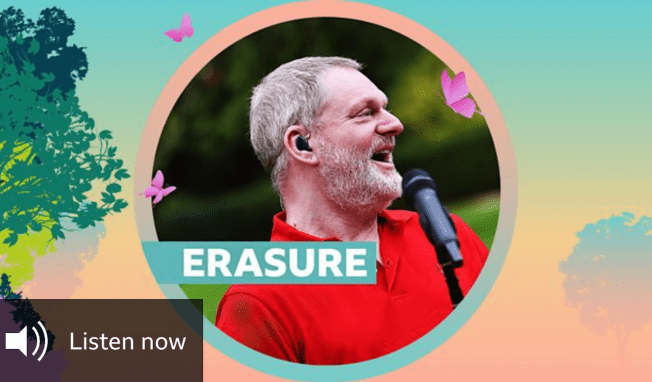 Listen to 7-track set of Erasure at BBC Radio 2's 'Live At Home' festival