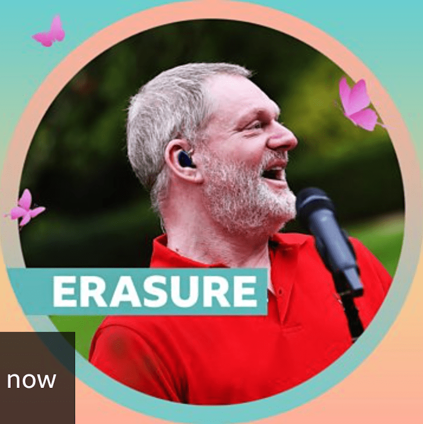 Listen to 7-track set of Erasure at BBC Radio 2's'Live At Home' festival