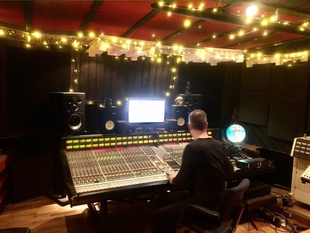 Christer Krogh. Engineering some of Sverres ambient stuff in studio 2.