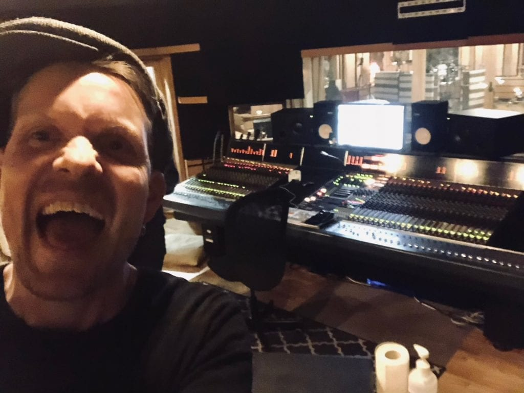 "The definition of ""Happy being back in the studio"" :D"