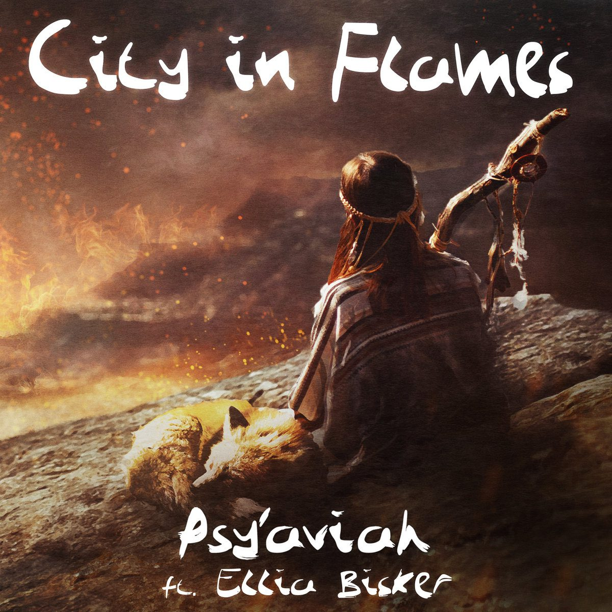 Belgian electropop act Psy'Aviah launches new single / video 'City In Flames' taken from 'Soul Searching' album