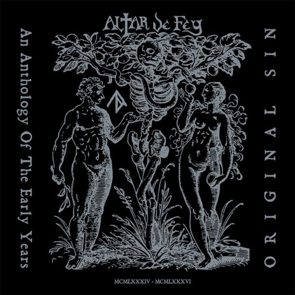 Vinyl release for anthology recordings by the deathrock act Altar De Fey
