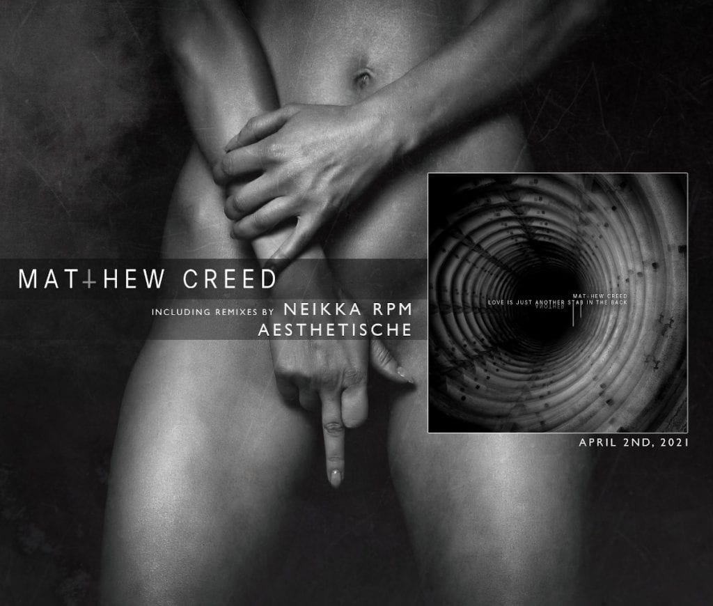 Brand new dark techno project Matthew Creed signs to Alfa Matrix and releases first single and video'Love Is Just Another Stab In The Back'
