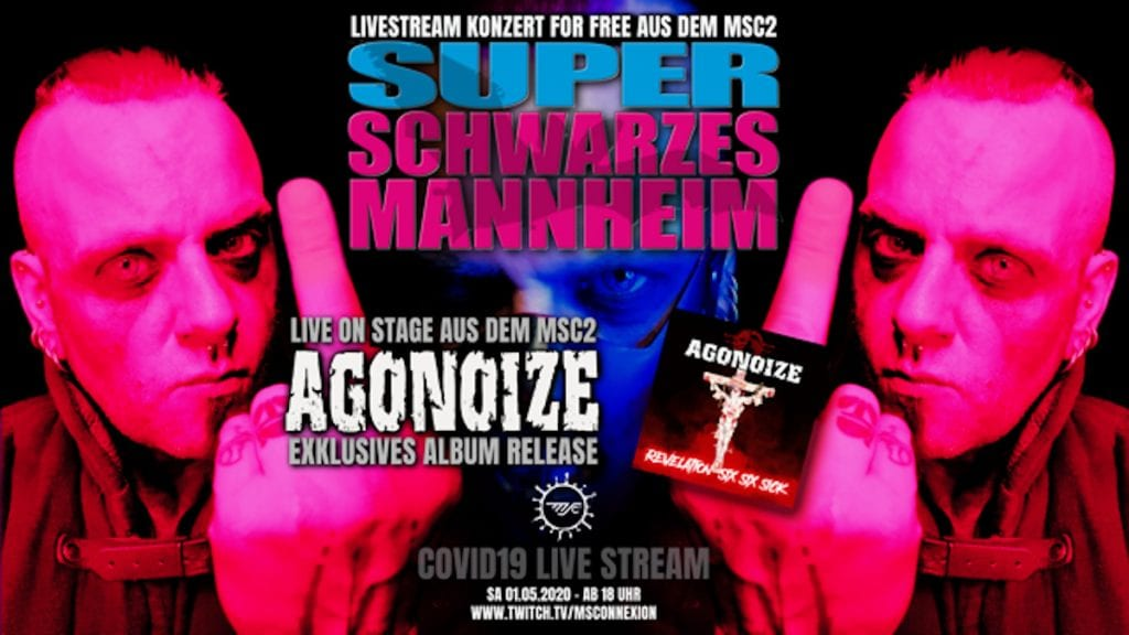 Agonoize celebrate'Revelation Six Six Sick' album release with streaming concert on May 1st