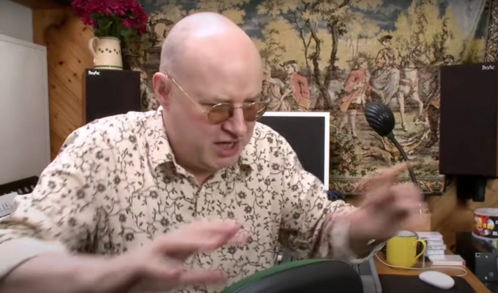 XTC's Andy Partridge pop ups behind the production buttons for Darling Boy's'Breaking Into Forever' single